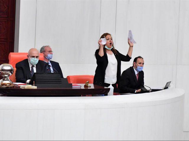 Turkish parliament revokes the membership of three opposition deputies
